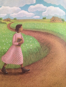 Bessie walked four miles to and from school every day.