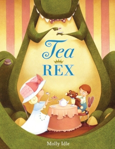 These kids invite their large friend to tea.