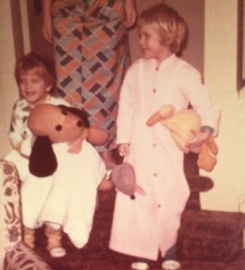 Me and Duck in our salad days - the 70s. My brother and Henry were close too.