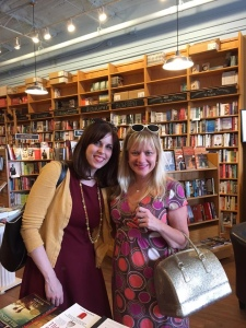 Melissa, me, and my gold handbag visit Parnassus Books.