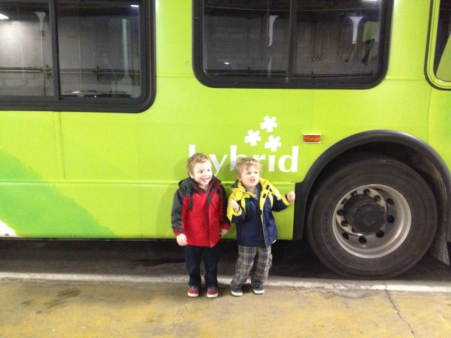 Calvin and Max at the Metro bus garage.