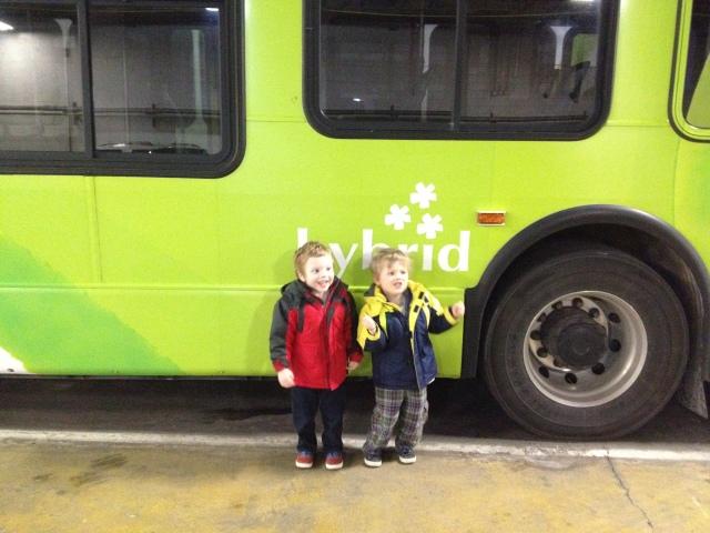 Calvin and Max at the Metro bus garage.