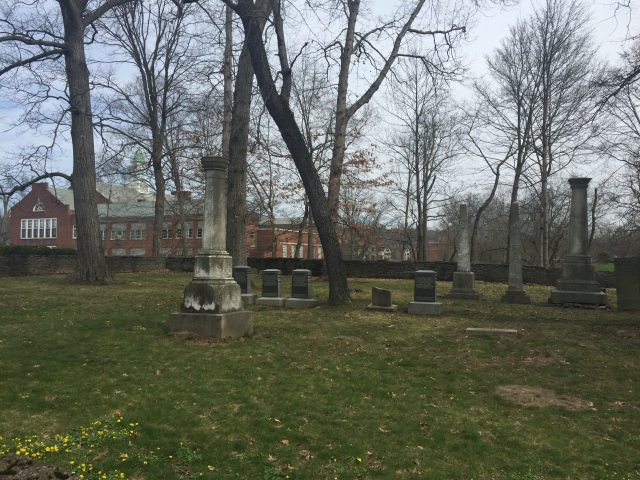 graveyard and school