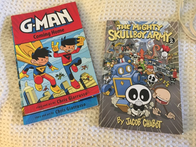 G-man and Skullboy books