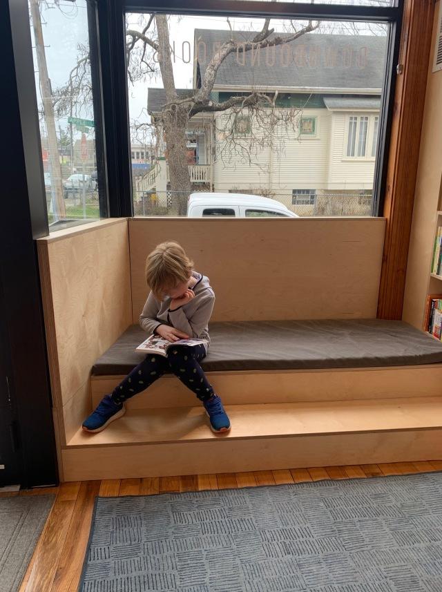 Calvin reading